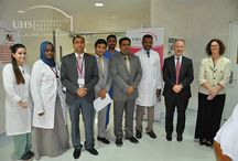 University Hospital Sharjah celebrates National Medical Laboratory Professionals Week / Medical Laboratory Professionals Week takes place in the last full week of April each year and recognizes the proactive, collaborative role professional laboratory teams play to advance patient care as core members of the patient care team. The event at UHS took place on April 28-30, 2016 at G level, were the Medical Laboratory Professionals explained, performed and interpreted laboratory tests emphasizing on how doctors and patients get lab Results.