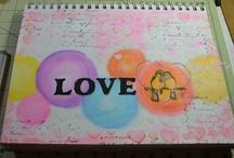 My Journals and Journal pages / Handmade journal, art journaling, art tutorials