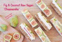 "Fig & Coconut Raw Vegan ""Cheesecake"" / The base is rich and the filling is velvety and full of wonderful fragrances...And the slices of fresh fig really turn this simple recipe into something looking really fancy...Raw vegan, sugar-free, gluten-free, oil-free."