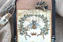 Queen Bee Tag Card & Envelope by: TomBow Adhesives Jan 2013