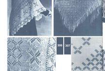 вязание платков, шалей