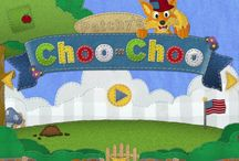 Patchy's Choo-Choo / Artwork of the Patchy's Choo-Choo educational kids game. Let's children learn all there is about farm and jungle animals.
