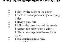 Sportsmanship Checklists