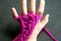 knitting / stricken - Knitting with Arms, Fingers and Looms / by Wollhase