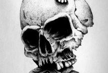 Tatouage crâne - papillon de nuit