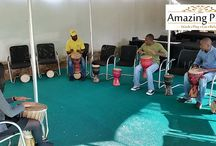Drumming Activities at The Amazing Place / The Amazing Place's drumming activity is an excellent tool for stress release, group bonding, enhancing communication and building teams.