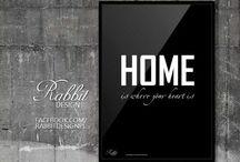 Rabbit DESIGN / Typografia / Grafika tekstowa / Plakat / Poster