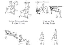 Shoulders, chest and triceps moves