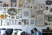 Ściana i obrazy