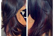 Vlasy / Úprava střihy barvy