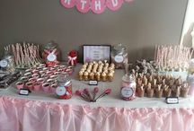 Pink & Grey Dessert Table / By Sweet Crush NZ