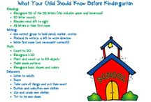 Beginning of the year kindergarten / by Bridgette Bowman