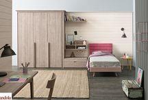 Maestrale Camere Ragazzi / Maestrale Kids Bedroom / Arredamento per le camerette in legno massello di abete naturale / Furniture for kids bedroom in natural solid wood