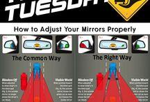 Jak ustawić poprawnie lusterka w samochodzie