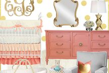 Coral and Gray Inspirational Nursery Ideas / Caden Lane has a ton of inspiring color combo's like Coral and Gray. We love this color combo and all of the fun nursery decor pieces to go with it. Just imagine your sweet little one in a nursery with baby soft gray walls and pops of coral to brighten the room up! We are simply obsessed with these colors.  / by Caden Lane