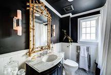 + Trendy 2016 - Czarna łazienka + / The black is back! Minimalistyczna, luksusowa, designerska czy tradycyjna, jedno jest pewna - czarna łazienka będzie modna!