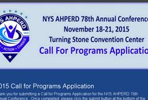 NYS AHPERD Annual Conference / This board includes information about our NYS AHPERD Annual Conferences!  For more detailed information, visit our website at www.nysahperd.org!
