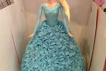 Elsa Cake Designs / This shape cake is made by using our Dolly Varden cake tin.