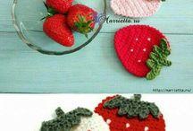 과일&음식 뜨개작품