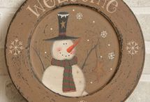 painted plate ideas / by (Country Lane Folk Art) Becky Levesque