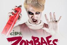 Cibu Presents Zombaes: Purveyors of the Pretty Dead | Halloween 2016 Costume Ideas / Cibu Presents Zombaes: Purveyors of the Pretty Dead | Halloween 2016 Costume Ideas Cute zombie makeup, Millenial costumes, Hip Hop costume, Mad Men costume