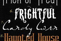 Digi - Fonts - Fall/Halloween