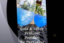 All Natural Food Color and Sparkles / New Product for Glittering Distilled Spirits. Make your Cocktails Shimmer and shine! PurColour Brilliant Powder, Gold and Silver Sparkle