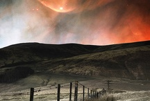 Aurora Borealis/ Stars/ Moon/ Clouds