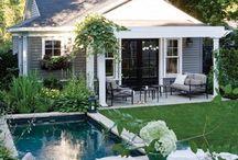 Cottage backyard