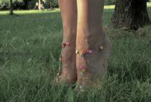 barefoot sandals / wykonana przeze mnie biżuteria na stopy