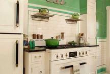 Verde e bianco x cucina