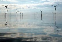Energía Solar y Eólica / Tablero que recoge información, imágenes y vídeos sobre dos de las más representativas fuentes de energía renovables: solar y eólica;  al igual que sus instalaciones, técnicas y novedades.