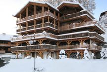 Chalet Les Esserts, Verbier / The hugely cosy yet spacious feel of this place - perfect for small groups - with the added benefit of a beautiful swimming pool literally next door.