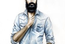man fashion illustration