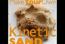 Making kinetic sand