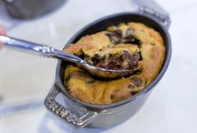 Nigella's Recipes / Chocolate chip cookie dough pots