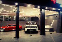 luxury cars showroom