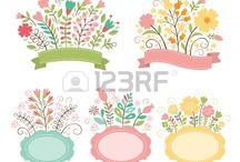 motywy kwiatowe/ ramki