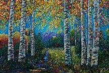 Olena Art / Olena is an emerging artist out of the US. Her paintings are striking and calming, claiming us to her nature.