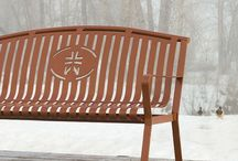 Memorial Benches / Beautiful ideas for memorial benches that are weather proof and perfect for the outdoors.