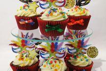 Bakken voor de Bieb Cupcake / Thema: Carnaval/Verkleedfeest