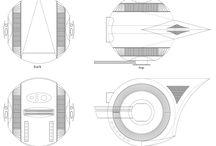 Drone scratchbuilt 1/10 in progress / A scratchbuilt drone model in scale 1/10. My own design.
