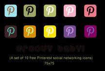 free social media icons / by Knikkolette Church