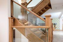 Larkhill Farm, Venables Oak Project / Larkhill Farm, Venables Oak Project. Oak doors, staircase, joinery, Oak cladding. #oak