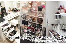 Muebles organizadores de maquillaje