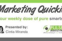 Marketing Quickies / Our Marketing Quickies are short, informational videos to help you learn more about social media, search engine optimization, branding, and more! / by Pulse Marketing Agency