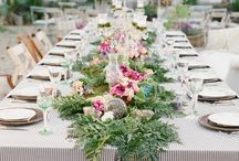 TABLESCAPE / Candles, flowers, dishes, staging creating magical environments, elegant and subtle. / by Louise GG