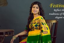 Festive Couture / Reflect the grandeur and tradition of the festivity in our rich and elegant ethnic sarees!