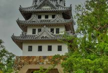 Sumoto Castle, Towering over Mount Mikuma, Awaji Island. / Atagi Haruoki (安宅冬康) constructed Sumoto Castle (洲本城) in 1526. Although there are only castle walls left, the main keep was rebuilt in 1928. A magnificent view of Osaka Bay is your reward of climbing to the top.