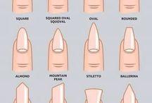 forma de uñas